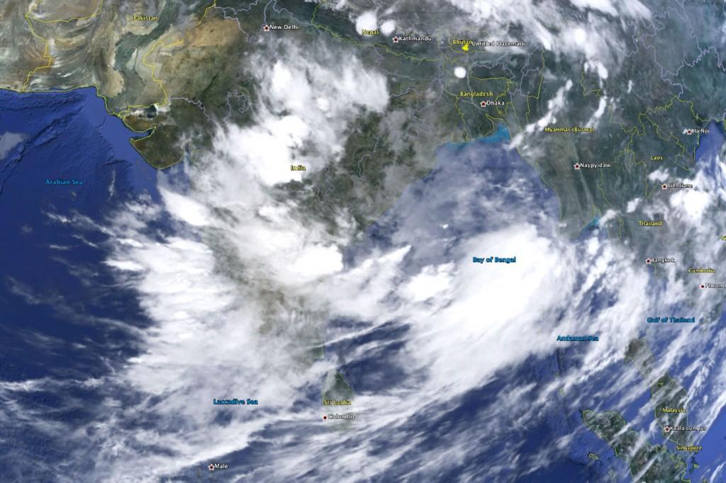 Wind from the asian landmass